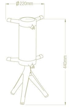 Gestell Tischlampe Tuli 1971 H=44cm