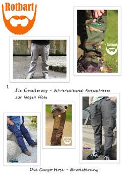 BEINERWEITERUNG für die kurze Cargo Hose für Männer