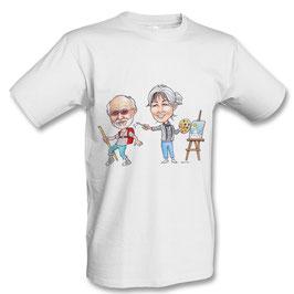T-Shirt weiss mit Aufdruck
