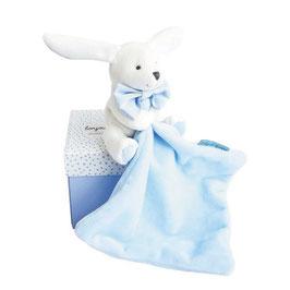 Hase mit Schmusetuch rosa oder hellblau 10cm