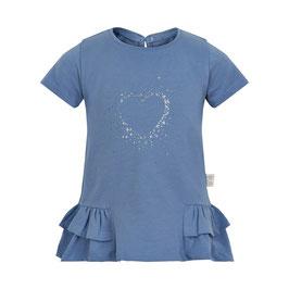 Creamie Langarmshirt in blau mit Herz-Motiv