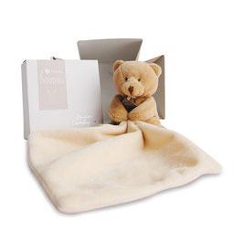 Bär mit Schmusetuch, natur 10cm