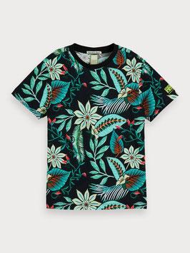 Cooles T-Shirt mit Tropischen Druck von Scotch Shrunk