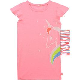 Billieblush Rosa Unicorn Print Kleid mit Fransen auf der Seite