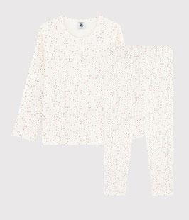 Pyjama aus Bio-Baumwolle mit farbigem Polka-Dot-Muster für Mädchen von Petit Bateau