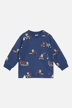 Hust & Claire Sweatshirt mit Bagger-Motive in Blue Moon