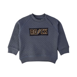 """Gemütlicher und schöner Pullover mit einem """"ROCK"""" Schriftzug  über der Brust eingestickt von Petit Sofie Schnoor"""