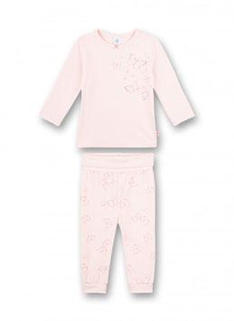 Mädchen-Schlafanzug lang Rosa Flowers and Butterflies von Sanetta