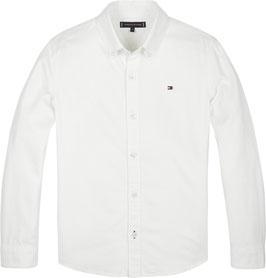 Tommy Hilfiger Baumwoll-Hemd mit Button-down-Kragen White