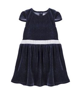 Kurzärmeliges Petit Bateau Kleid aus Samt