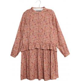 Leichtes Viskosekleid mit wunderschönem, handgezeichnetem Muster
