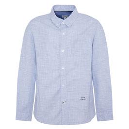 Langärmeliges Baumwollhemd mit karierter Textur von Pepe Jeans