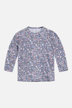 Hust & Claire Langarmshirt mit Blumenmuster in Peony Blue