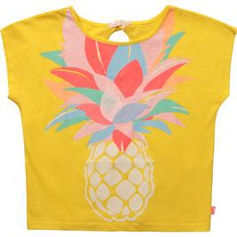 Gelbes T-Shirt von Billieblush mit Ananas Print auf der Vorderseite