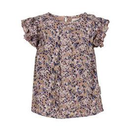 Creamie kurzärmlige Bluse mit Blumenmuster