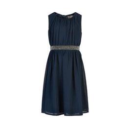 Hübsches ärmelloses Kleid in dark navy von Creamie