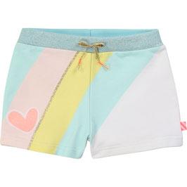 Pastellfarbene Shorts von Billieblush mit Streifendesign und wlastischer Bund mit Glitzer