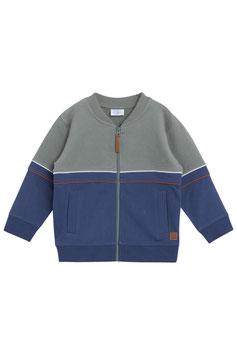 Lässige Hust & Claire Sweatshirt-Jacke für kleine Jungs mit Reißverschluss und hohem Kragen