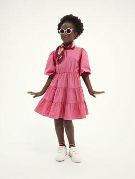 Ein Traum in Pink. Was kann es Schöneres geben? Scotch and Soda Baumwollkleid in A-Linie inder farbe Toxic Pink