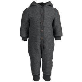 Mikk-line Fleece-Babyanzug aus Wolle in Melange Grey