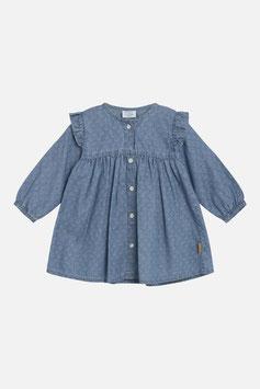 Hust & Claire Baby Kleid mit Rüschen in Washed Denim
