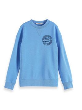 Scotch Shrunk Sweatshirt mit Rundhalsausschnitt aus Bio-Baumwolle in Ocean Mist