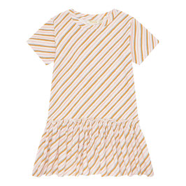 Soft Gallerie kurzarmkleid in Cremefarben, Rosa und Braun