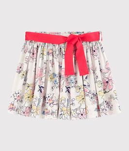 Petit Bateau Kinderrock aus Popeline für Mädchen in Weiss Marshmallow / weiss Multico