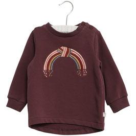 Wheat Sweatshirt mit einer Regenbogen-Stickerei vorne