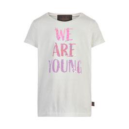Niedliches Creamie T-Shirt mit pailletten Schrift