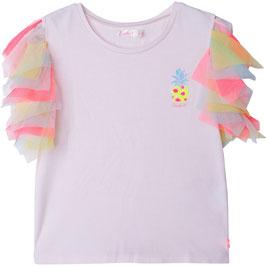 Billieblush  T-Shirt mit Annanas Print & Gekräuselte Tüll Ärmel