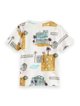 Scotch Shrunk T-Shirt aus Bio-Baumwolle mit sommerlichem Print