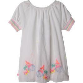 Billieblush Gesticktes Kleid in Weiß , Weiches Futter