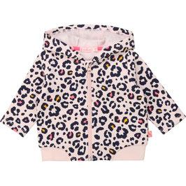 Billieblush Rosa Sweatshirtjacke mit Leopardenmuster