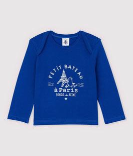 Petit Bateau langärmeliges Baby-T-Shirt aus Baumwolle für Jungen