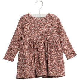 Niedliches , langärmliges Wheat Kleid in schwerem Jersey mit einer gerafften Naht über der Taille