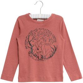 Langärmliges T-Shirt mit süßem Rabbit-Vorderdruck