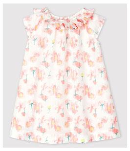 Kurzärmeliges Baby-Kleid aus Popeline für Mädchen von Petit Bateau