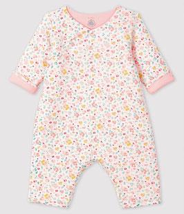 Petit Bateau Langer Baby-Overall aus Rippstrick
