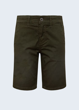 Pepe Jeans Blueburn Short im Chino-stil in Army Farbe