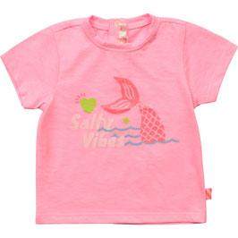 """Rosa T-Shirt von Billieblush mit Rundhalsausschnitt & Print auf der Vorderseite """"Salty Vibes"""""""