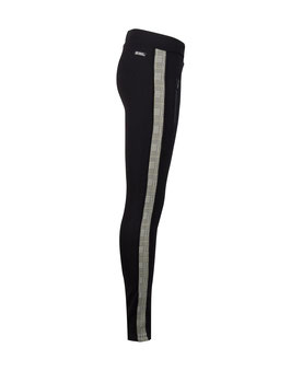 Indian Blue Jeans Contrast Legging Pants mit seitlichen Reißverschlusstaschen und Streifen