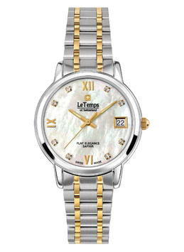Le Temps Flat Elegance Lady Bicolor Goldplatet - LT1088.65BT01