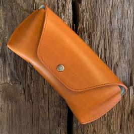 Oil Leather Orange / Mintgreen