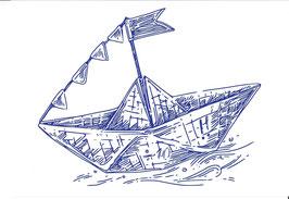 Postkarte Schiffchen