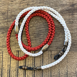 TWO TONE SILKY CORD - Geflochtene Seide red/white