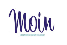 Postkarte Moin