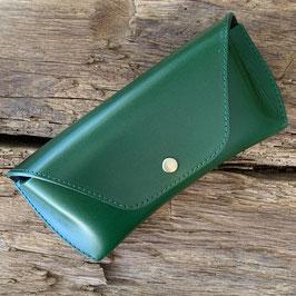 Oil Leather Green / Darkbrown