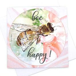 CARTE DOUBLE BEE HAPPY !
