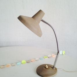 LAMPE BUREAU VINTAGE MARRON GLACÉ